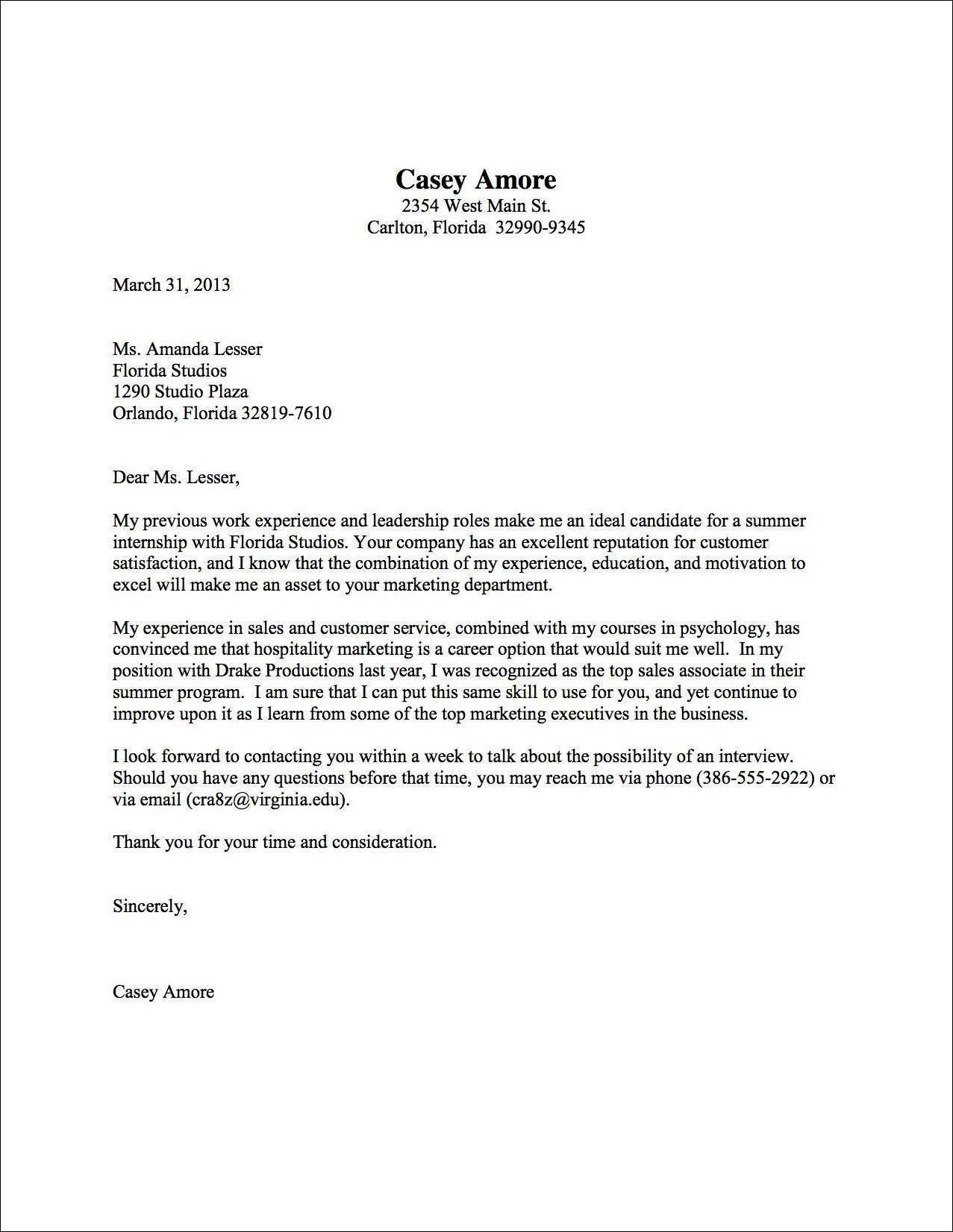 Cover letter sample uva career center cover letter samples cover letter sample uva career center madrichimfo Image collections