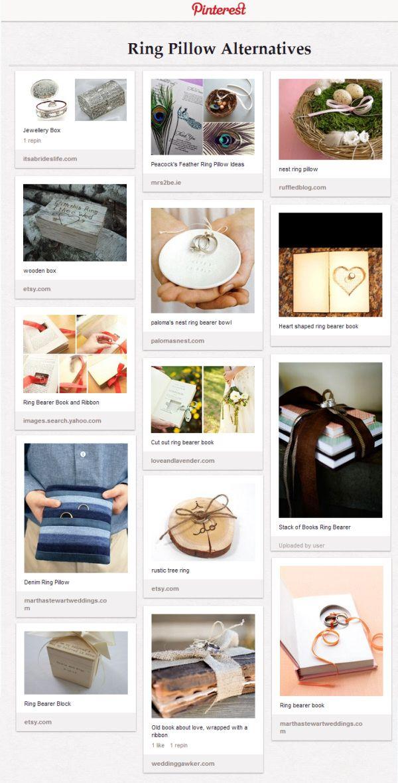 ring bearer ideas alternatives pillow | Ring Pillow Alternatives Pinterest Board
