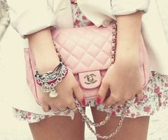 Floral skirt & Chanel