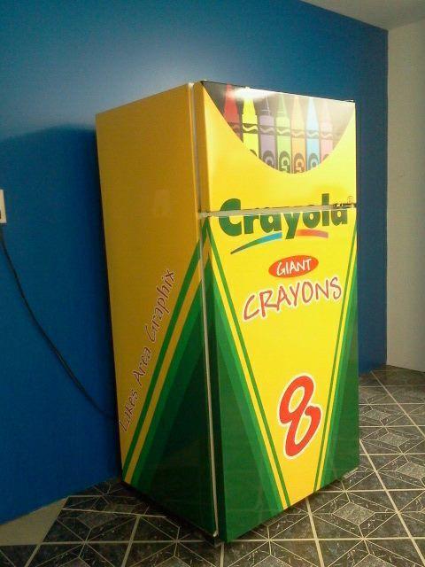 Custom Refrigerator Wrap From Signmax Refrigerator Wraps