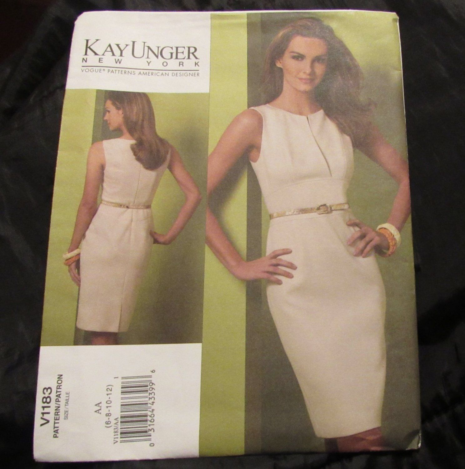 Vogue Dress Pattern V1183 Kay Unger Ny Size 6 8 10 12 Free