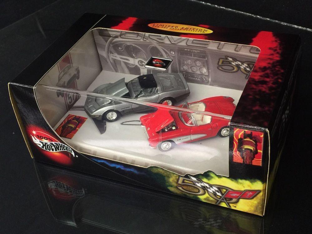 Corvette 50 Years Rel 1 2 Car Set Hot Wheels Collectibles Limited Edition Hotwheels Chevrolet Hot Wheels Corvette 1982 Corvette For Sale
