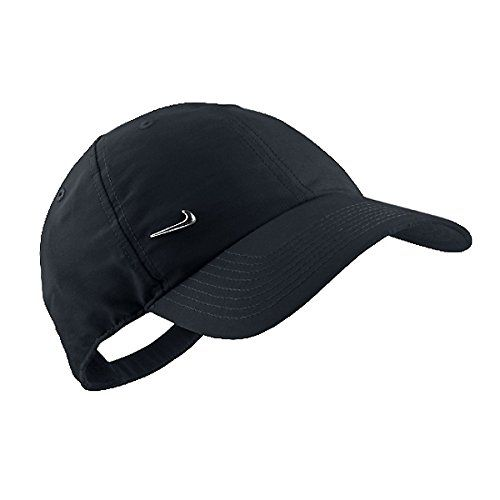6c3e8b15265 Nike Metal Swoosh Logo Casquette réglable Black Metallic Silver Nike  http   www