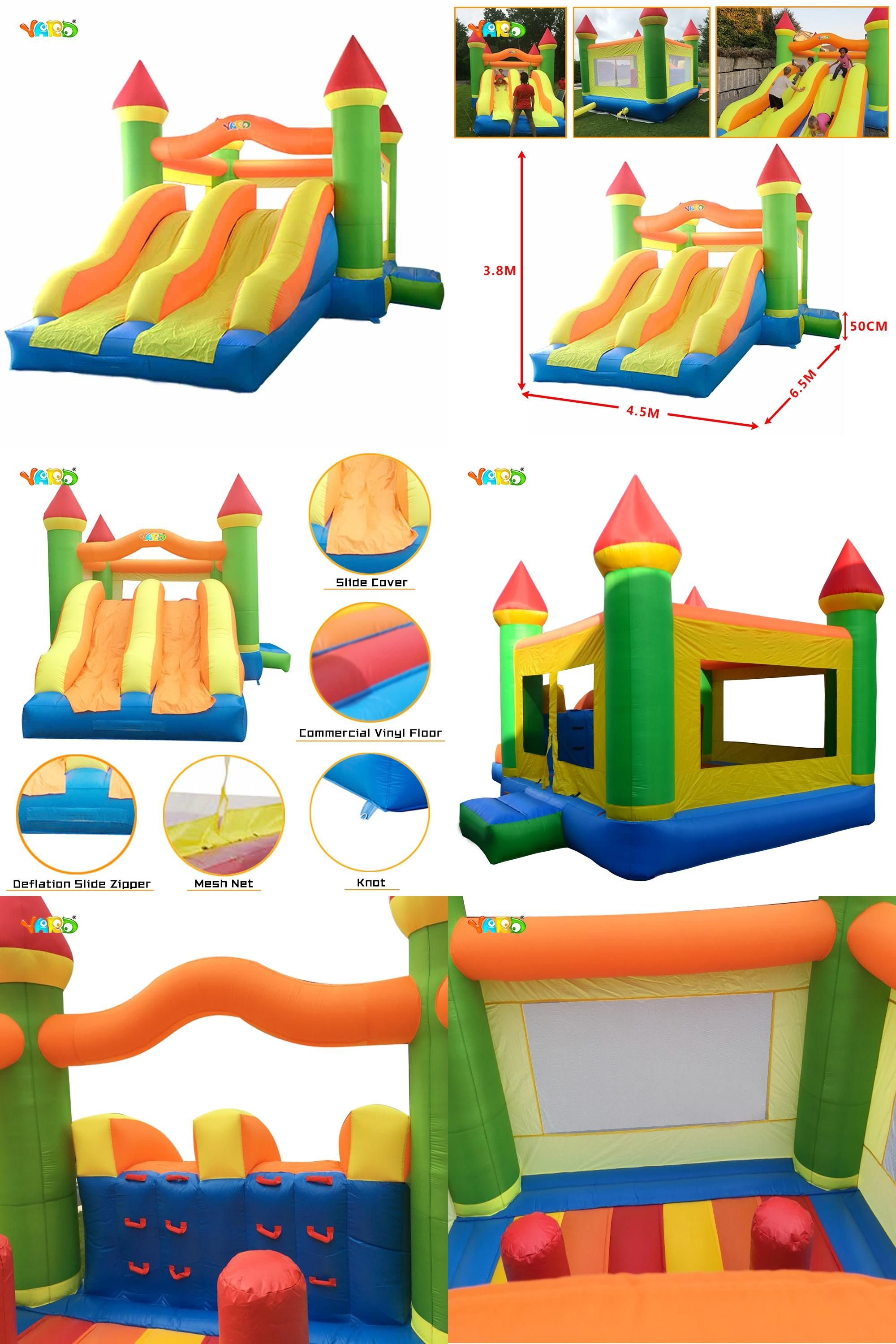 Visit to Buy] Giant Dual Slide Inflatable Castle Jumping Bouncer