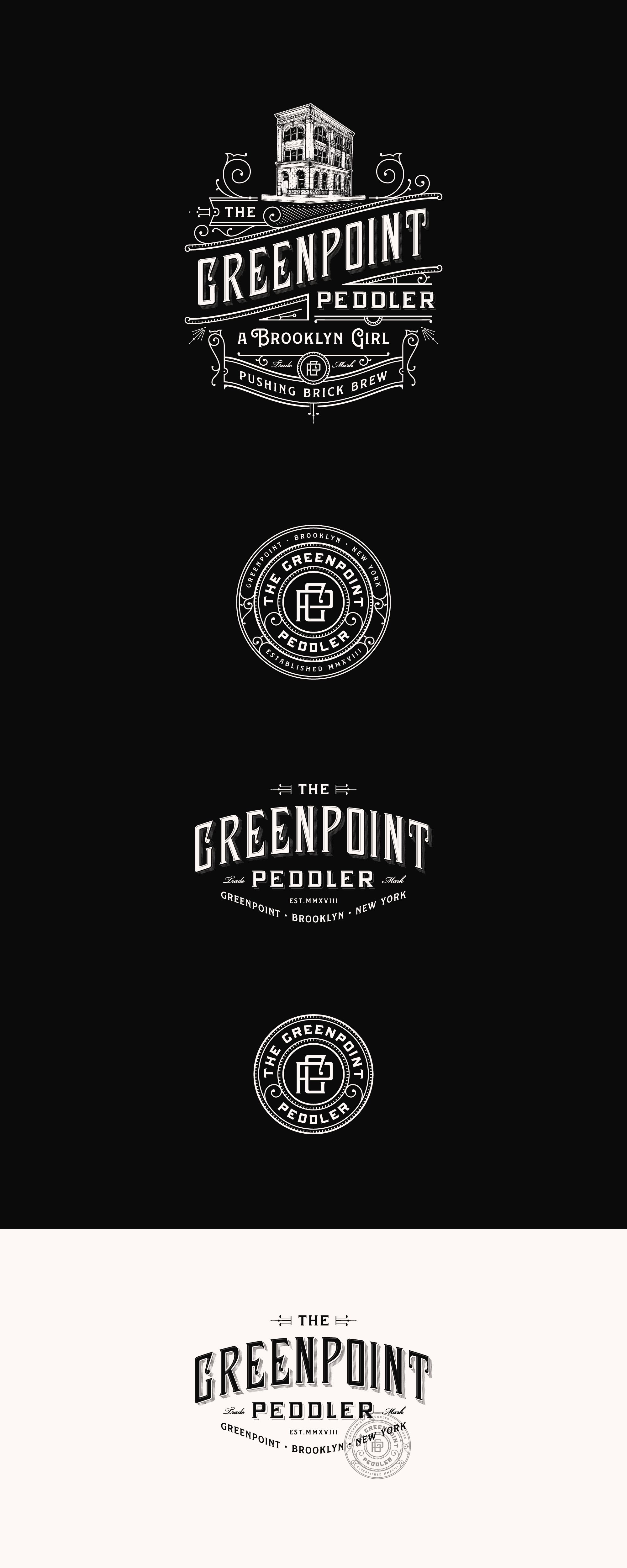 Greenpoint Peddler 99designs Vintage Logo Design Coffee Shop Logo Coffee Logo