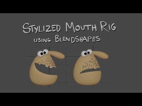 Creating a Stylized Mouth Rig - using Blendshapes (Maya