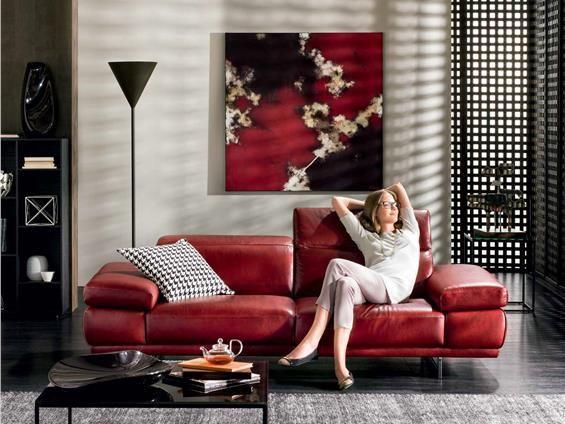 Natuzzi Sofas Preludio 2782 Salon Cuir Mobilier De Salon Et Salon