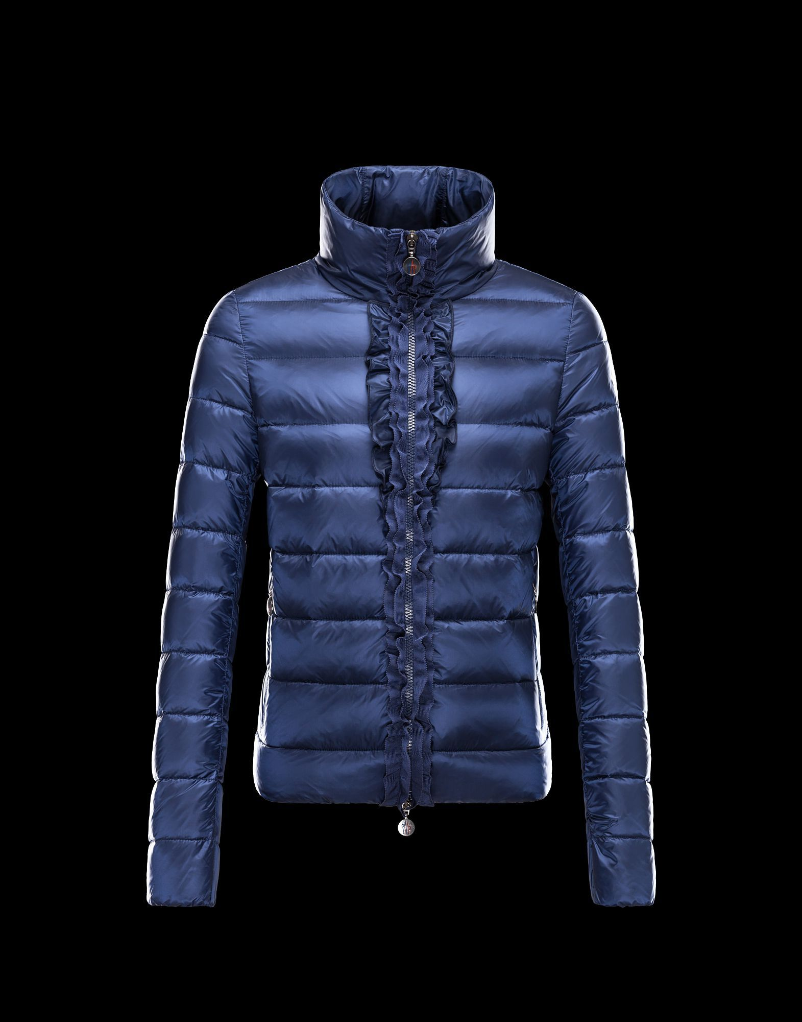 2013 New! Moncler OXALIS Down Jackets Womens Collar Blue! Only $239.9USD