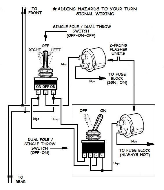 turn and hazard wiring diagram chevrolet how to add turn signals and wire them up electricity  auto  how to add turn signals and wire them