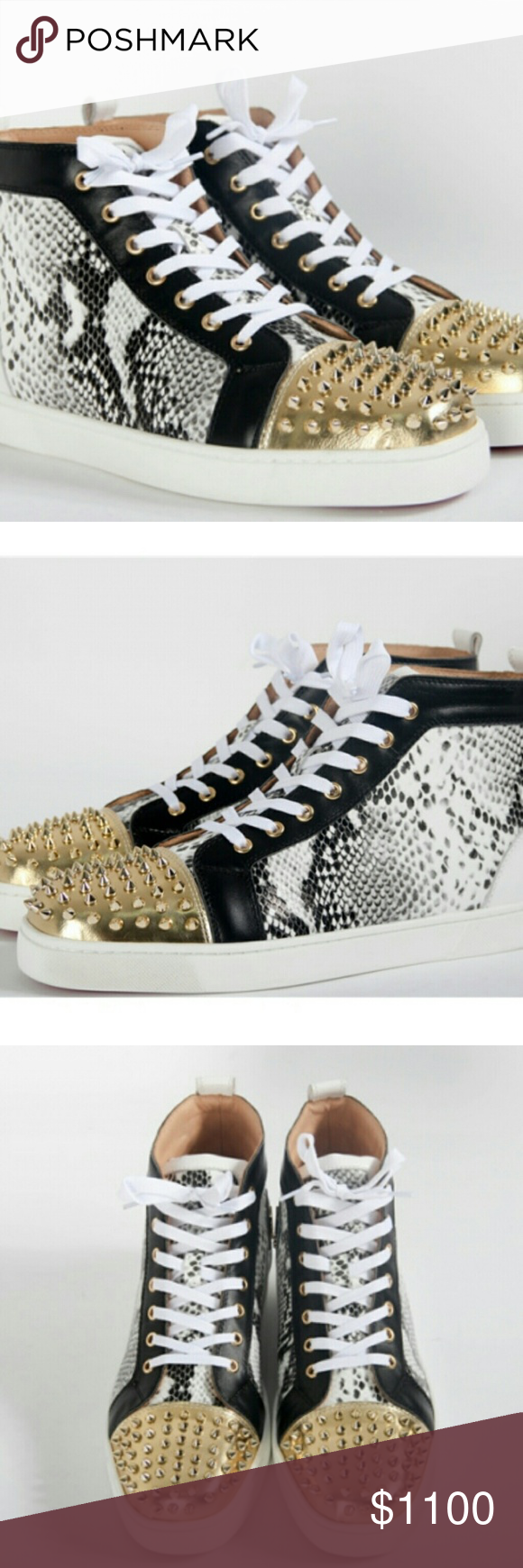 1ec1c71319d9 Christian Louboutin Mens Super Perfect Spike Gold Brand new with receipt