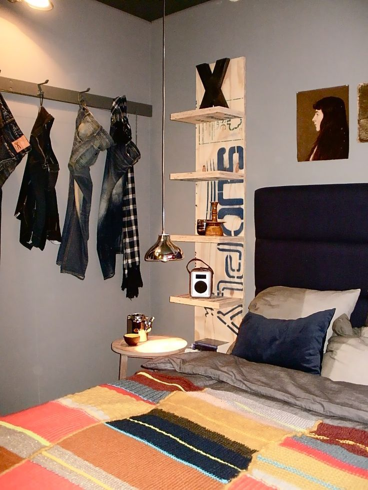 Guys don\u0027t like closets so a coat rack is the best solution to help