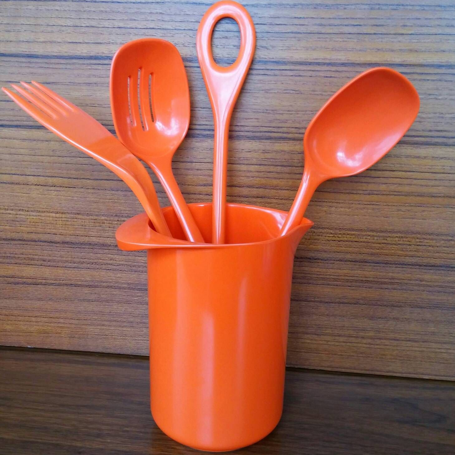 Find This Pin And More On Retro Vintage Kitchen. Items Similar To Rosti  Serving Utensils, Orange