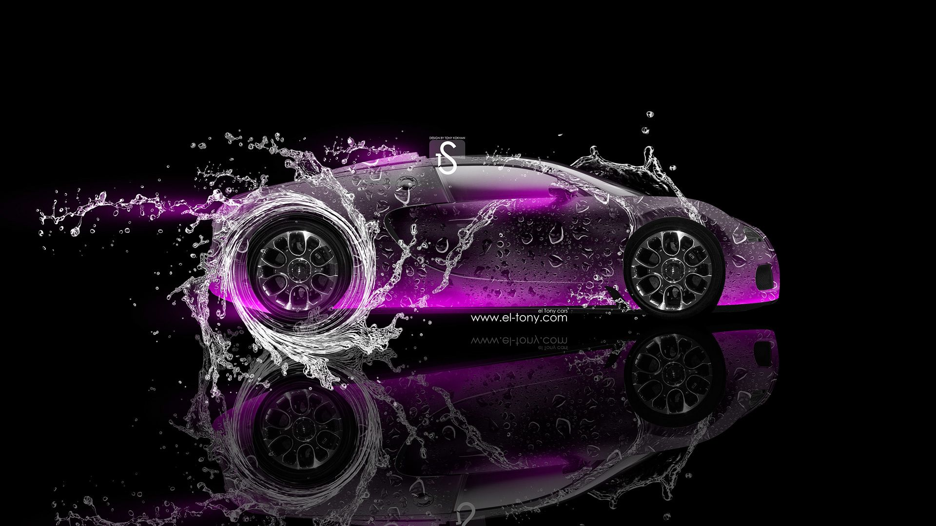 Charmant Gold Bugatti Veyron With Neon | Bugatti Veyron Super Water Car 2013