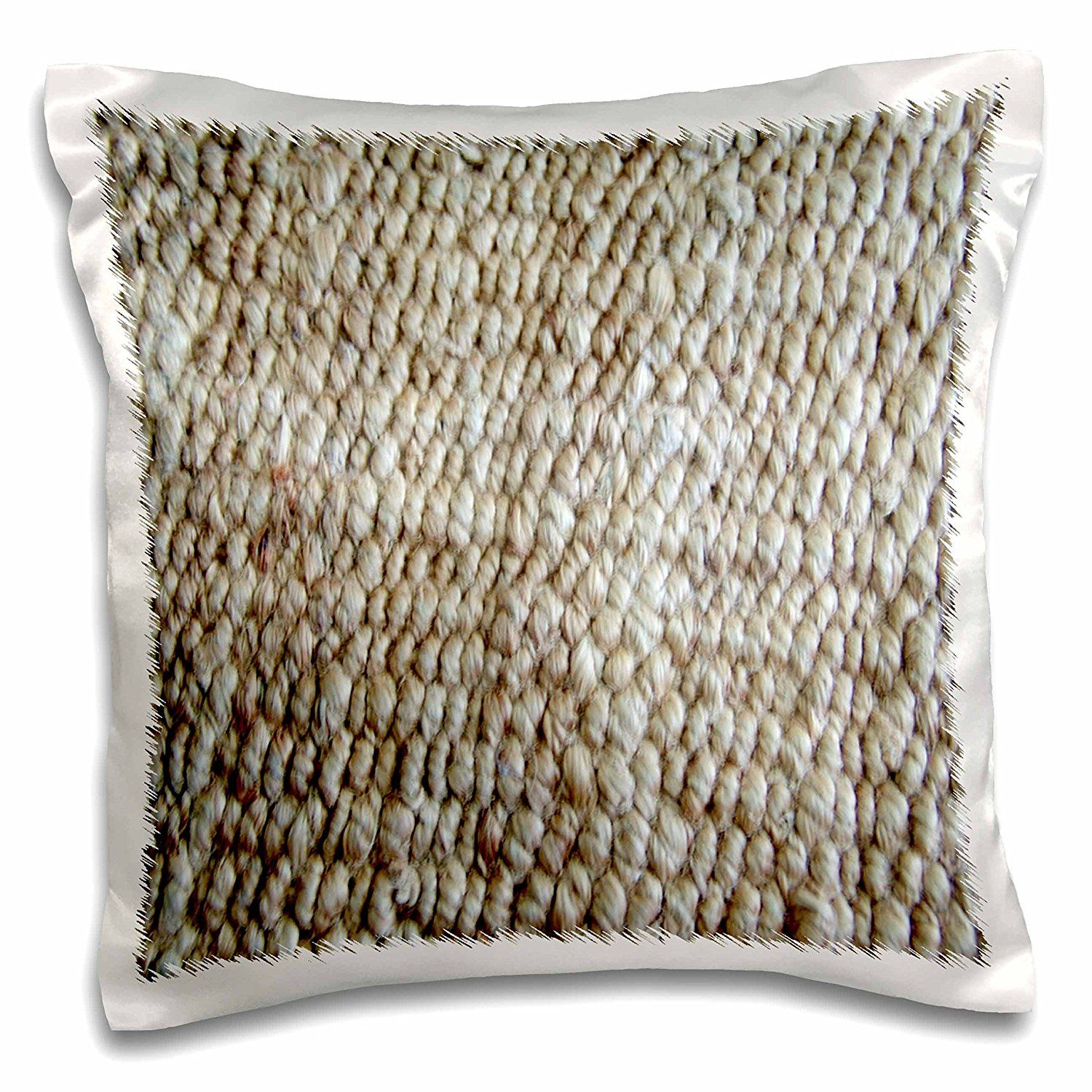 Amazon.com: Florene Designer Texture - Textured Jute - 16x16 inch Pillow Case (pc_45035_1): Home & Kitchen