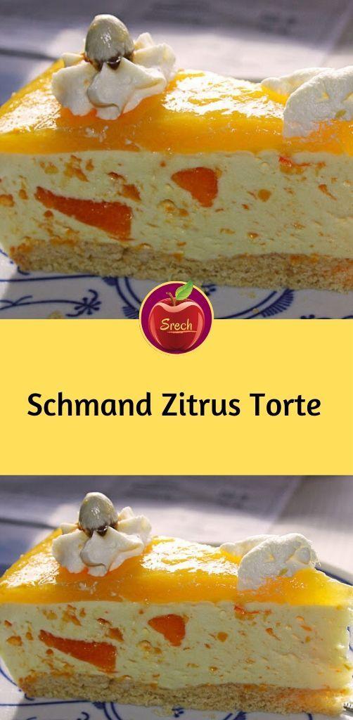 Schmand Zitrus Torte #kuchenkekse