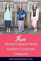 Three Modest Skirts From Inherit Clothing Company Three Modest Skirts From Inherit Clothing Company