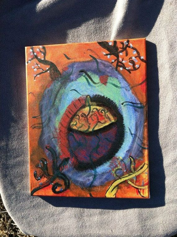 Angelic RootsWrapped Canvas Acrylic Painting by by FrankieFrankArt, $30.00