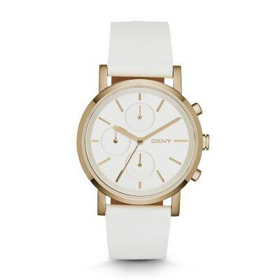 DKNY Shop Soho White Leather Watch