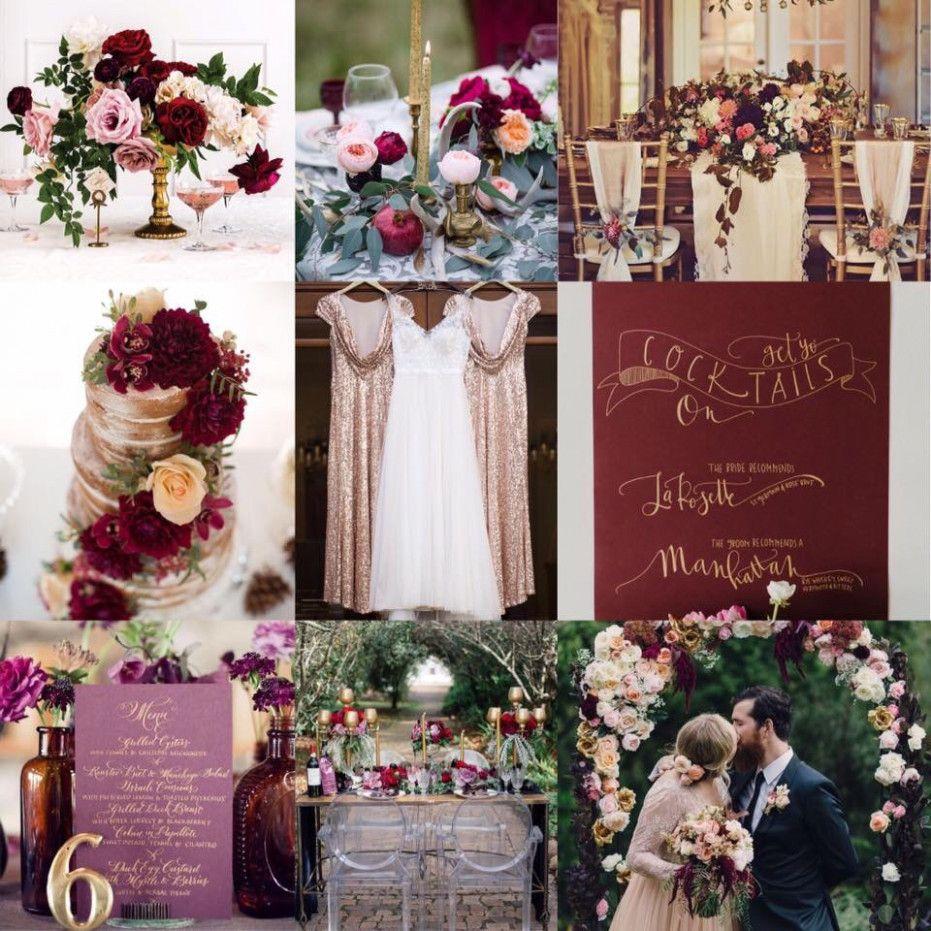 Purple Rose Gold Wedding Centerpiece Ideas Marsala And Gold Wedding Gold And Burgundy Wedding Gold Wedding Centerpieces