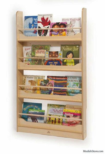 This Slim Wall Mounted Bookshelf Is Perfectly Sized For Children