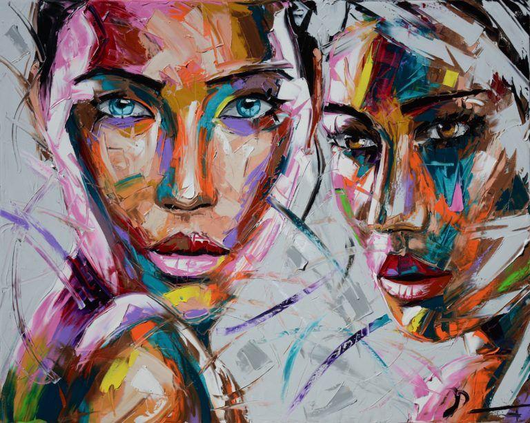 FACES VI Vassilis Antonakos ART Portrait peinture à l
