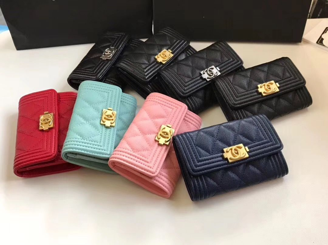 Chanel card case small wallet small wallet wallet