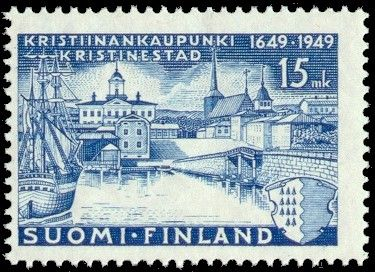 Kristiinankaupunki postage stamp, Ostrobothnia province of Western Finland.- Pohjanmaa - Österbotten