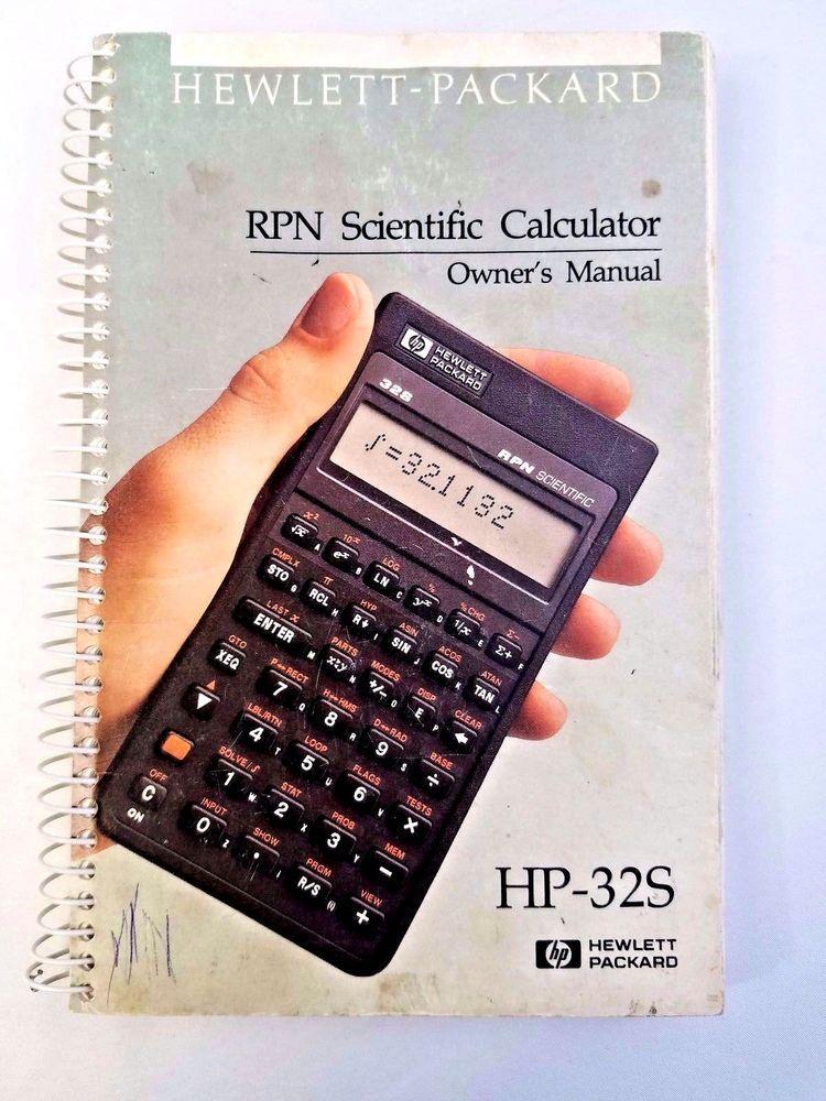 hewlett packard rpn scientific calculator owner s manual hp 32s rh pinterest com Hewlett-Packard HP 17 Calculator hewlett packard 32sii rpn scientific calculator manual