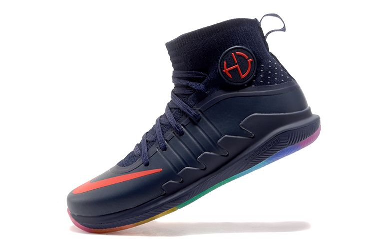 8cf44743c6a Nike Hyperdunk 2017 2018 Draymond Green Sneakers Ink Blue Rainbow Sole