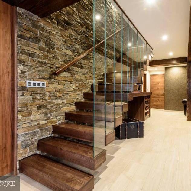 Im genes de decoraci n y dise o de interiores espacios for Escalera de madera al aire libre precio