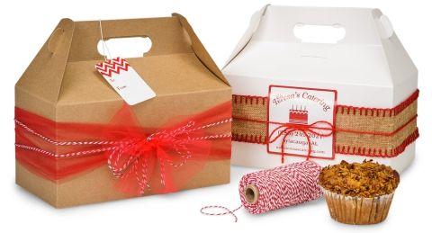 Gable Boxes Make Fun Packaging For Small Gifts Gourmet Foods Regalos Pequenos Cajas Para Regalo De Navidad Cajas Decoradas De Carton