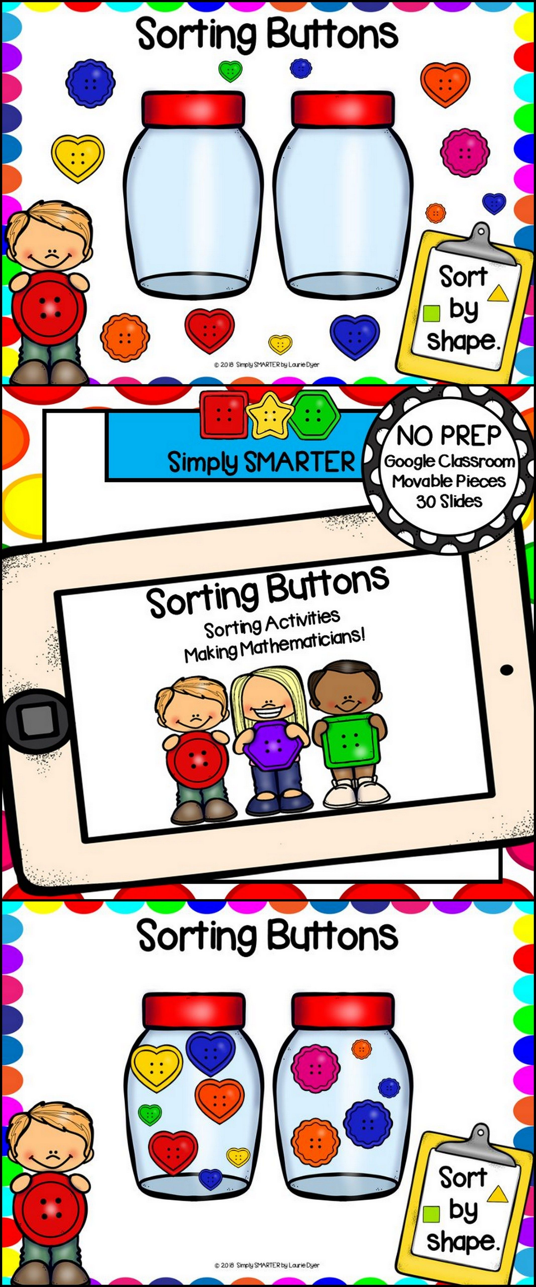 Sorting Buttons Math Activities For Classroom