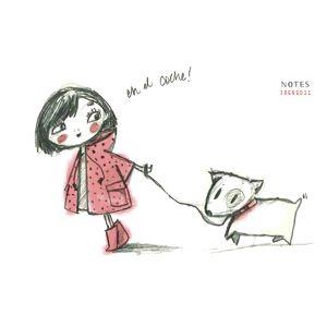 Ilustracion De Personajes De Una Nina Con Perro Papel Lapiz Y Photoshop Ano 2011 Perros Para Ninos Ilustraciones Ninos