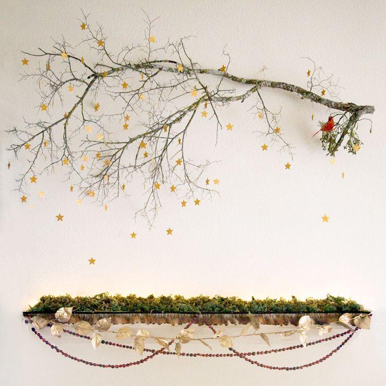 Christmas mantel, enchanted forest, woodland, Christmas ...