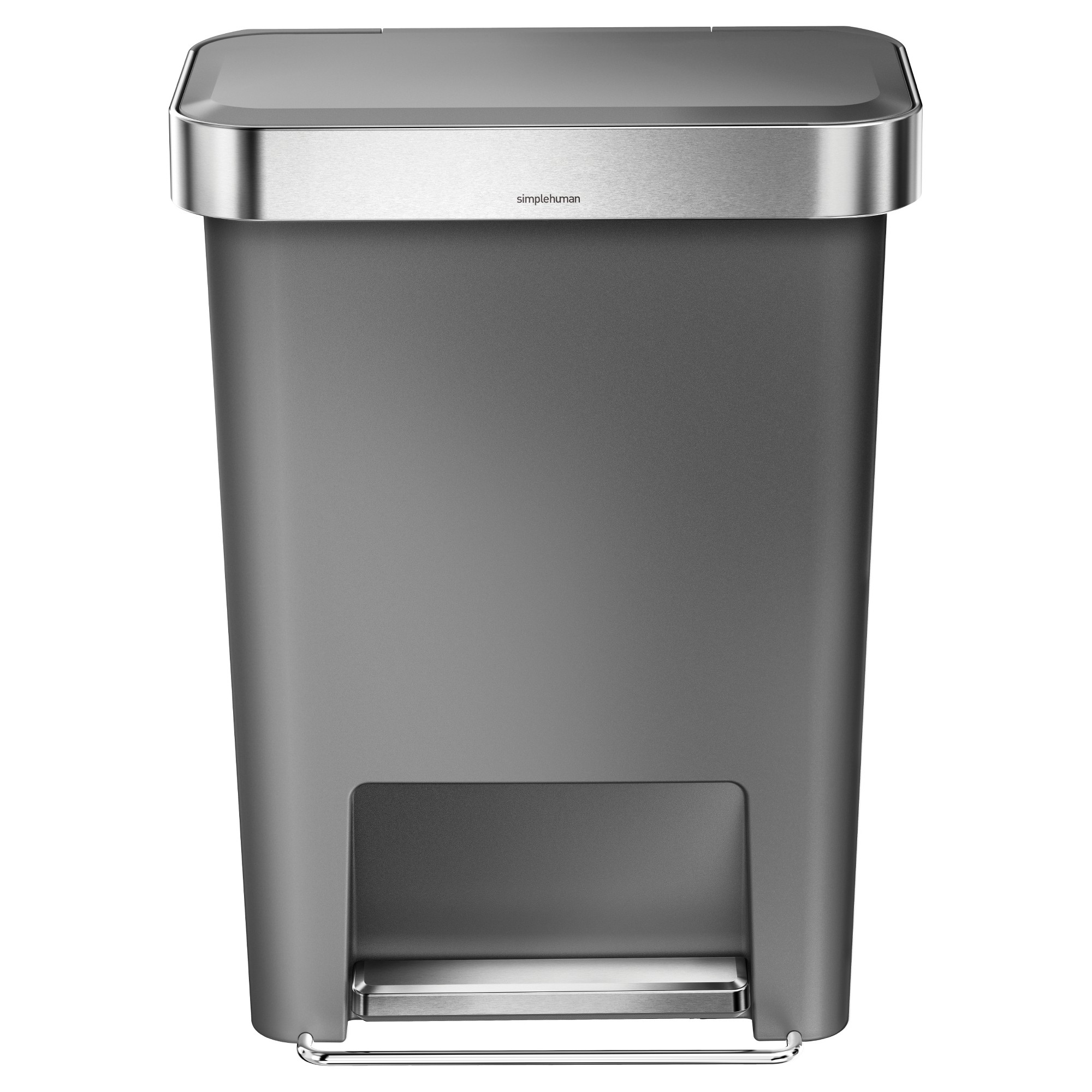 Simplehuman Step Open Trash Can Gray Kitchen Trash Cans