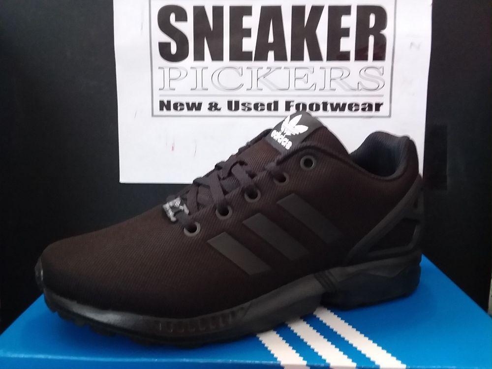 best service 26d89 156de Adidas ZX Flux - Style# S82695 - Black / Black - Boys Size ...