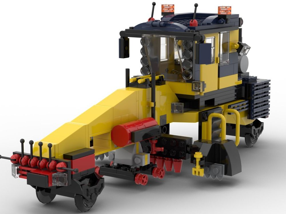 Train engine for replacing the ties   My own creation LEGO (MOC)