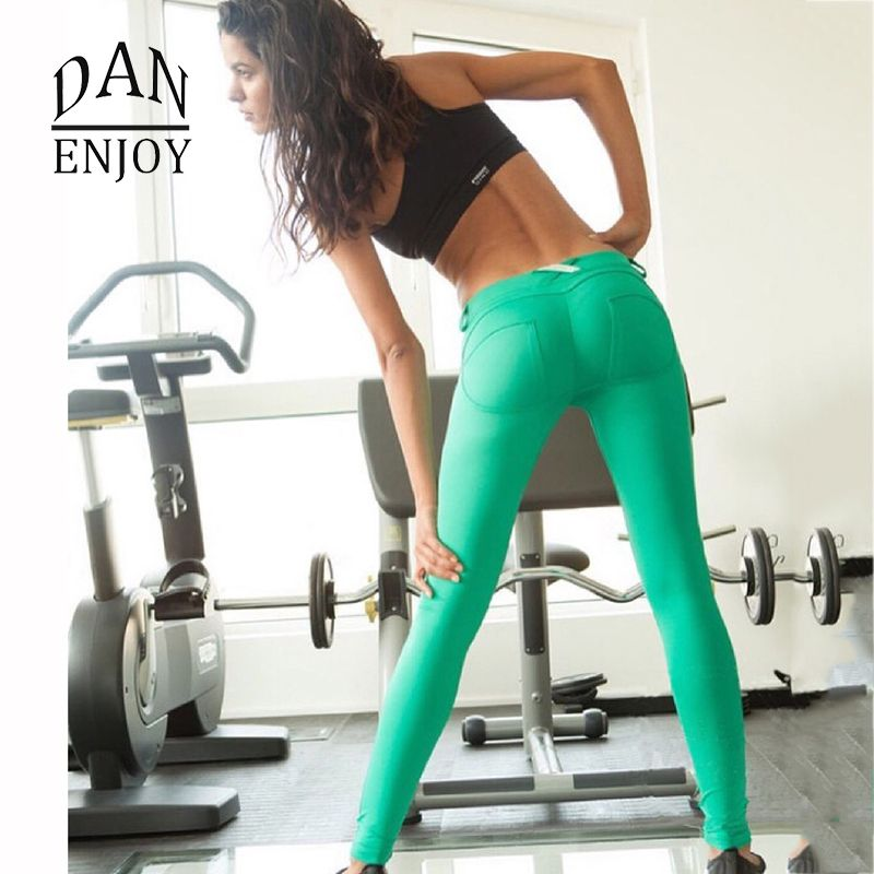 a3cd7057394fc Women Sexy Peach Hips Push up Tush Trainer Casuals Legging Sport Yoga  Fitness Low Waist Freddy