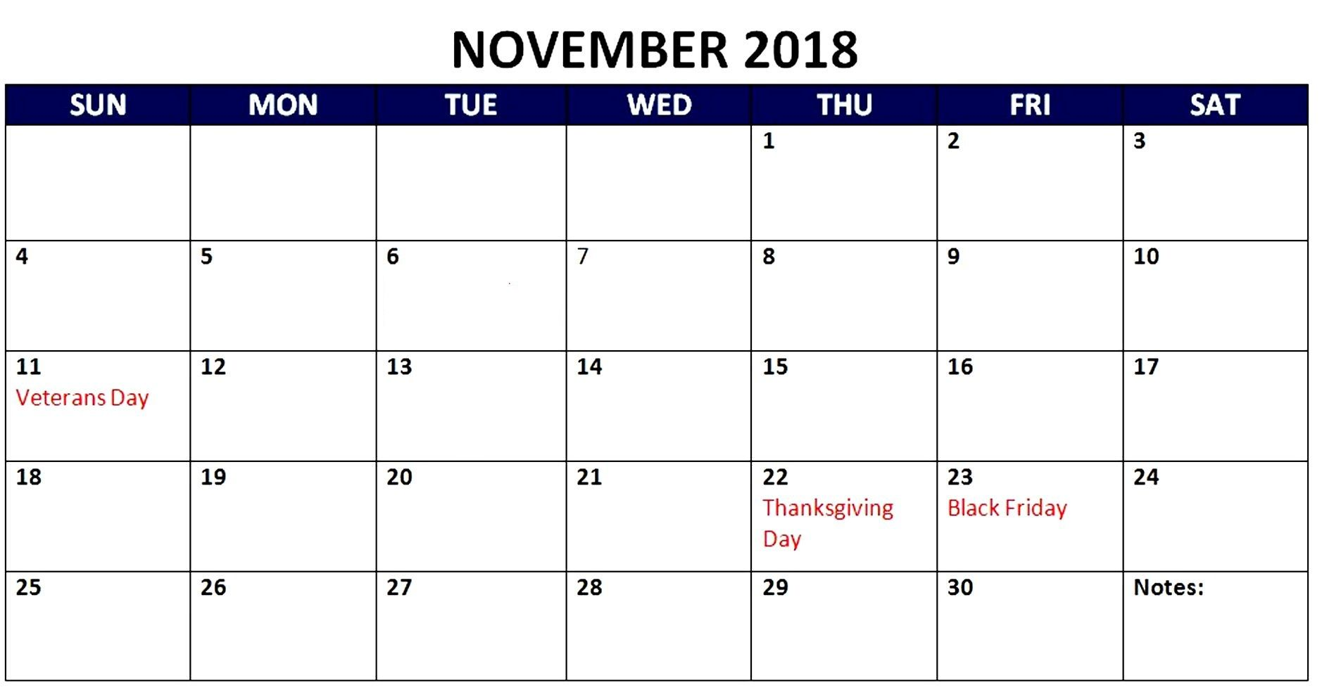 november 2018 calendar australia with holidays