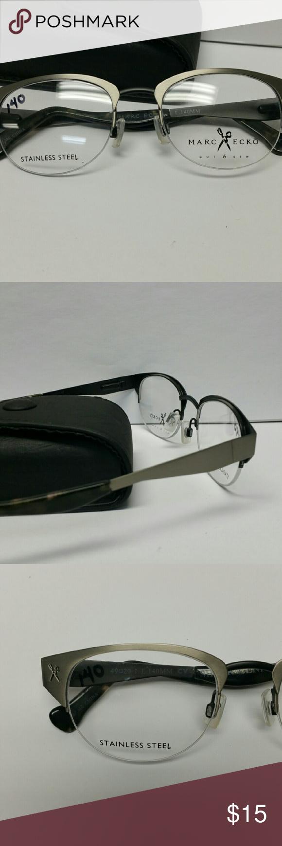 Marc Ecko Shear Genius Glasses Marc Ecko Pewter semi-rimless frame ...