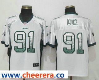 5d439a6c9 ... clearance mens philadelphia eagles 91 fletcher cox white drift stitched  nfl nike fashion jersey c8f07 61b6a ...
