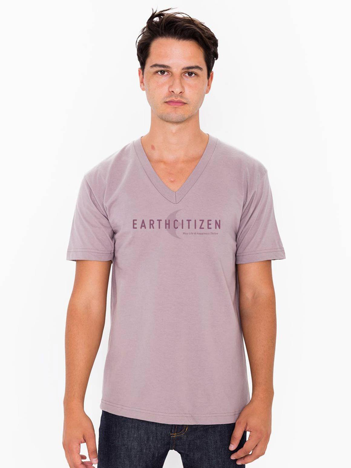 EC V1 Logo - #Vision - Organic Cotton V Neck T-Shirt - Adults'