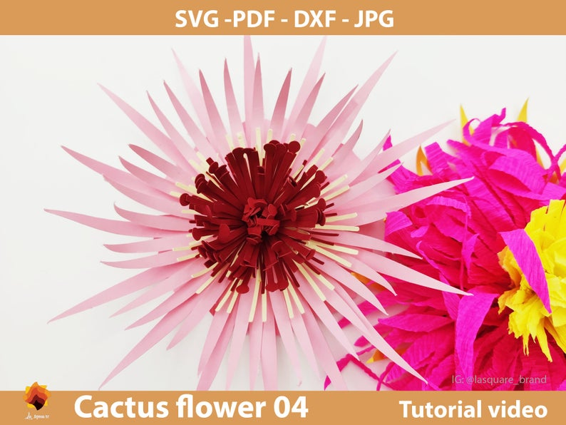 Ctf 04 Giant Paper Flowers Svg Paper Flower Template Pdf Etsy In 2020 Paper Flower Templates Pdf Paper Flowers Flower Template
