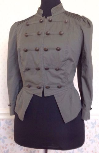 12-Khaki-Green-Lightweight-Military-Soldier-Jacket-Cosplay-Steampunk-LARP-Vtg