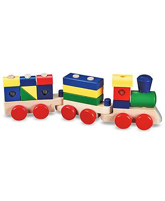 Melissa And Doug Toy Stacking Train Toys Wooden Toys