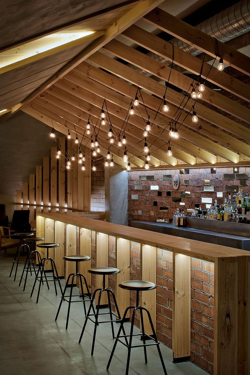 Amazing brick backdrop gives  heritage appeal to the attic bar also hot home design trends that are here stay photos dream  rh pinterest