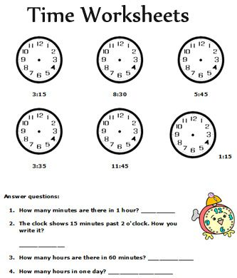 Clock Problems For 2nd Grade Show Time Math Worksheets Free