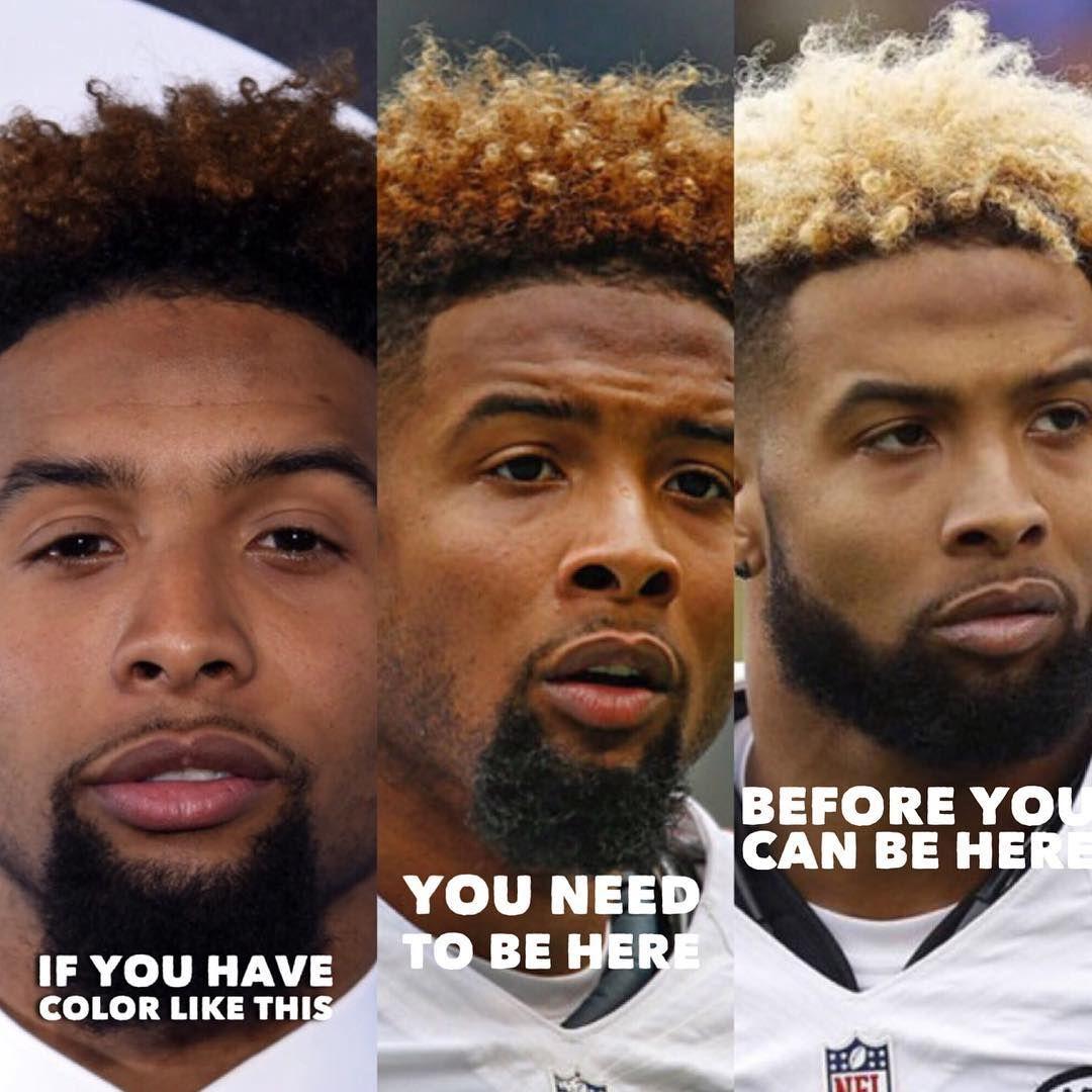 Hair Color Progress Odell Beckham Jr By