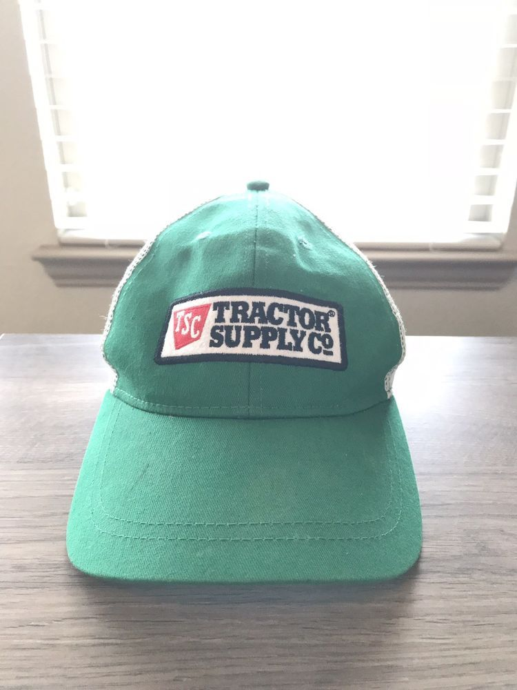 87f3522b Green Tractor Supply Co TSC Logo Embroidered Trucker hat cap Adjustable # fashion #clothing #shoes #accessories #mensaccessories #hats (ebay link)