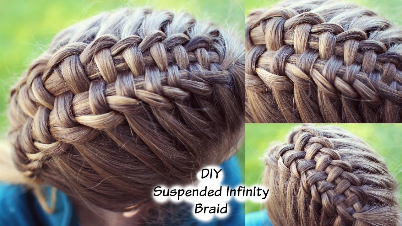 diy suspended infinity braid , looks a lot harder than it